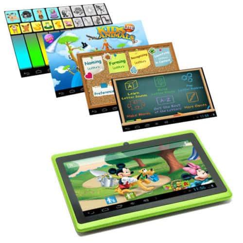 Basic tablet rózsaszín előre telepített fejlesztő, oktató és játékprogramokkal
