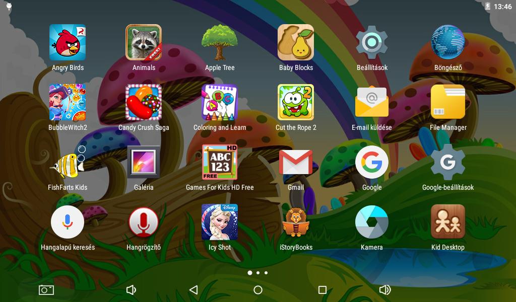 Basic tablet számos előre telepített oktató és szórakoztató játékkal van ellátva