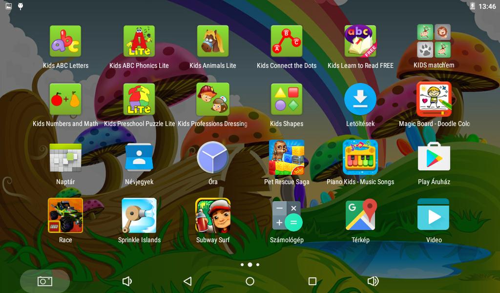 Basic gyerektablet számos előre telepített oktató és szórakoztató játékkal van ellátva