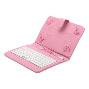 Tablet tok 7″ és 8″ billentyűzettel rózsaszín
