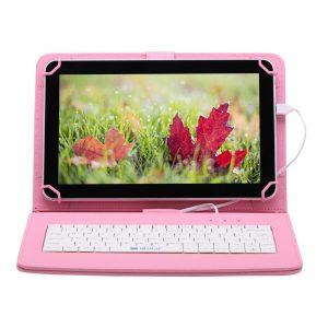 7″ Tanuló tablet 16Gb (18x12cm) rózsaszín billentyűzettel