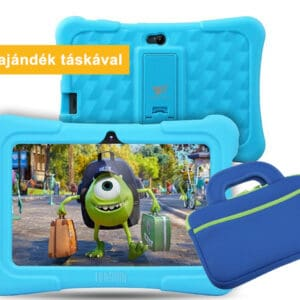 7″ Kids Plus kék gyerektablet 16Gb (18x12cm) ajándék táskával