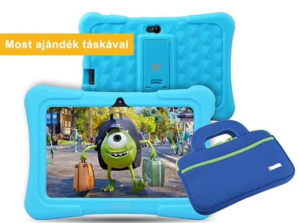 Kids Plus kék gyerektablet ajándék táskával