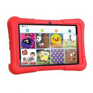 7″ Kids Plus piros gyerektablet 16Gb (18x12cm)