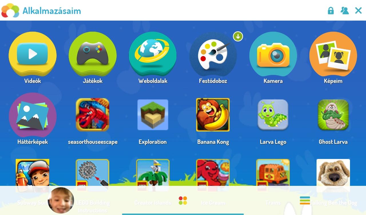 Kids Plus tablet gyerek üzemmód szülői felügyelet és időzár - magyar nyelvű keretrendszer