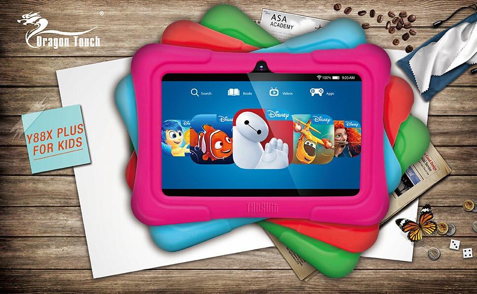 Kids Plus gyerektablet színválasztéka a kék és a rózsaszín