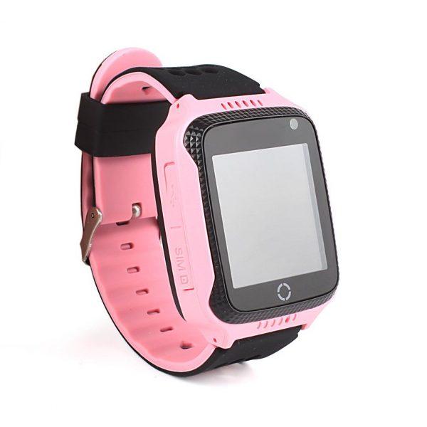 Rózsaszín nyomkövető GPS gyerekóra